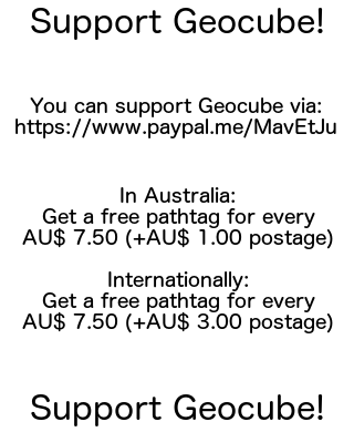 Support Geocube, buy a pathtag!